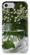 Lily-of-the-valley Bouquet IPhone Case by Luv Photography
