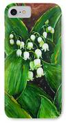Lily Of The Valley IPhone Case by Zaira Dzhaubaeva