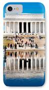 Lincoln Memorial IPhone Case by Greg Fortier