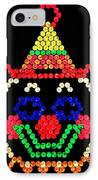 Lite Brite - The Classic Clown IPhone Case by Benjamin Yeager