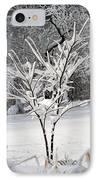Little Snow Tree IPhone Case by Karen Adams