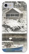 Lobster Boat After Snowstorm In Tenants Harbor Maine IPhone Case by Keith Webber Jr