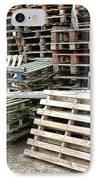 Lots Of Pallets IPhone Case by Olivier Le Queinec