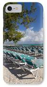Lounge Chairs On The Beach IPhone Case by Amy Cicconi