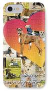 Love Of Boxers IPhone Case by Judy Wood