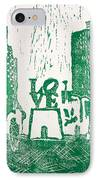 Love Park In Green IPhone Case