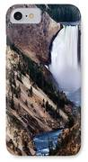 Lower Yellowstone Falls IPhone Case by Bill Gallagher