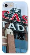 Lucas Oil Stadium Sign IPhone Case by James Drake