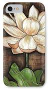 Lure Of The Lotus IPhone Case by VLee Watson