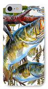 Lurking Bass IPhone Case by Carey Chen