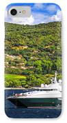 Luxury Yacht At The Coast Of French Riviera IPhone Case