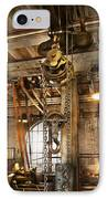 Machinist - In The Age Of Industry IPhone Case by Mike Savad