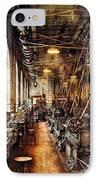 Machinist - Machine Shop Circa 1900's IPhone Case by Mike Savad
