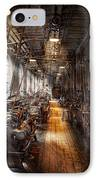 Machinist - Welcome To The Workshop IPhone Case by Mike Savad