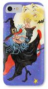Mad Millie Moon Dance IPhone Case by Richard De Wolfe