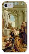 Maecenas Presenting The Liberal Arts To The Emperor Augustus IPhone Case