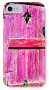 Magenta Painted Door In Garden  IPhone Case