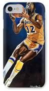 Magic Johnson - Lakers IPhone Case by Michael  Pattison