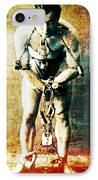 Magician Harry Houdini In Chains   IPhone Case by Jennifer Rondinelli Reilly - Fine Art Photography