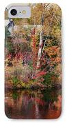 Maine Barn Through The Trees IPhone Case by Jeff Folger