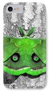 Male Moth Green IPhone Case by Al Powell Photography USA