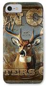 Man Cave Deer IPhone Case by JQ Licensing