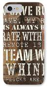 Man Cave Rules Square IPhone Case by Debbie DeWitt