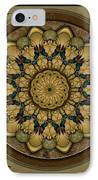 Mandala Earth Shell Sp IPhone Case by Bedros Awak