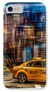 Manhattan - Yellow Cabs I IPhone Case by Hannes Cmarits