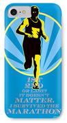Marathon Runner First Retro Poster IPhone Case