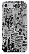 March On Washington IPhone Case by Benjamin Yeager