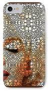 Marilyn Monroe - Stone Rock'd Art Painting IPhone Case