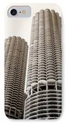 Marina City Chicago IPhone Case by Julie Palencia