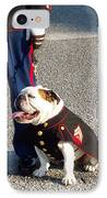 Marine Bull Dog IPhone Case by Kenneth Summers