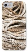 Marine Ropes Beige And Brown Colors IPhone Case by Matthias Hauser