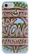 Mark Jones Velo Art Painting Blue IPhone Case by Mark Howard Jones