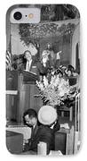 Martin Luther King Jnr 1929 1968 American Black Civil Rights Campaigner In The Pulpit IPhone Case