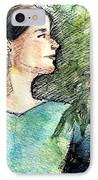 Mary In The Garden IPhone Case by Mary Fanning