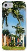 Maui Surfboard Fence - Peahi IPhone Case