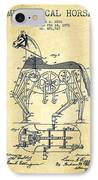 Mechanical Horse Patent Drawing From 1893 - Vintage IPhone Case