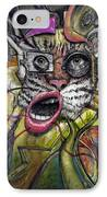 Mechanical Tiger Girl IPhone Case by Frank Robert Dixon
