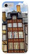 Medieval Houses In Rennes IPhone Case