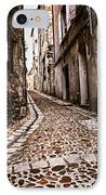Medieval Street In France IPhone Case