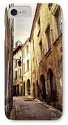 Medieval Street In Perigueux IPhone Case by Elena Elisseeva