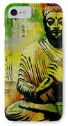 Meditating Buddha IPhone Case by Corporate Art Task Force