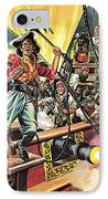 Men Of The Jolly Roger IPhone Case by Ron Embleton