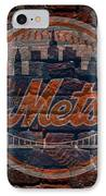 Mets Baseball Graffiti On Brick  IPhone Case by Movie Poster Prints