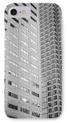 Miami Architecture Detail 2 - Black And White - Square Crop IPhone Case by Ian Monk