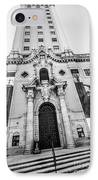 Miami Freedom Tower 2 - Miami - Florida - Black And White IPhone Case by Ian Monk