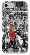 Michael Jordan Buzzer Beater IPhone Case by Brian Reaves